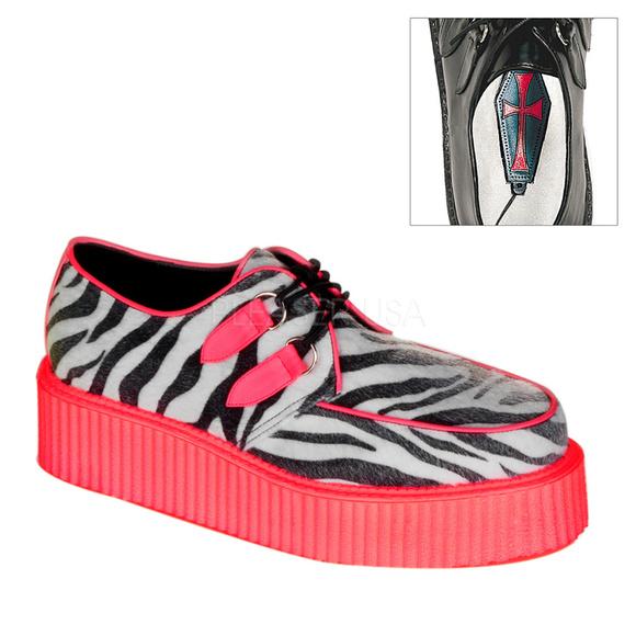 0002e423e3 Shoes | Mens 2 Platform Lace Up Creeper Zebra | Poshmark